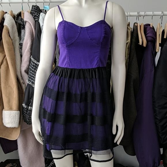 Aeropostale Dresses & Skirts - 5/$45 Black & Purple Bustier Dress
